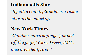 New York Times and Indianapolis Star Quotes on Brandon Gaudin
